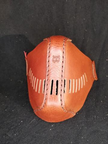 Moottoripyörä maski ruskea