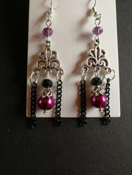 Hanging goth earrings
