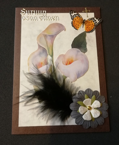 Mourning card calla