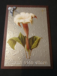 Calla lily mourning card