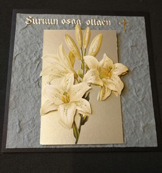 Mourning card with flower