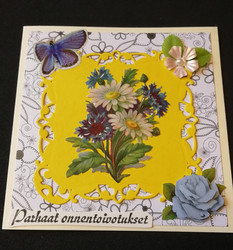 Flower yellow bacground card