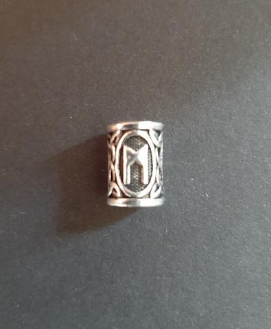 Beardbead viking rune Mannaz