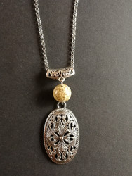 Viking themed necklace light brown stone