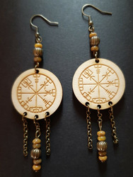 Viking Earrings Vegvisir
