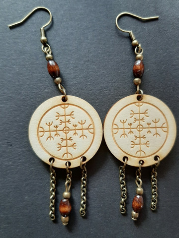 Viking Earrings Protection Rune
