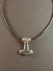 Thor's hammer necklace Odin with black cord
