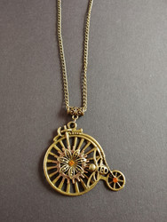 Bicycle and bee necklace