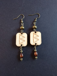 Berkano rune earrings