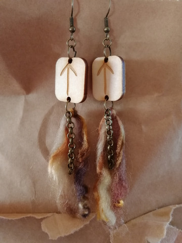 Tiwaz rune earrings