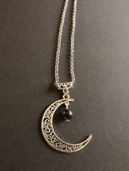 Moon necklace with sandstone