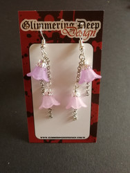 Umbella line lilac earrings