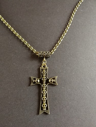 Cross with skulls necklace