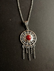 Viking necklace red shield