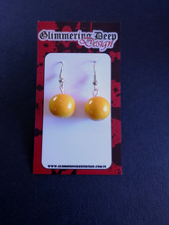 Yellow Ball Earrings