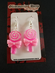 Pink lollipop earrings