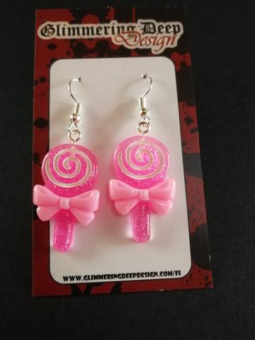 Pink lollipop earrings