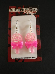Light pink lollipop earrings