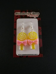 Yellow lollipop earrings