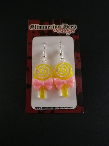 Yellow lollipop earrings