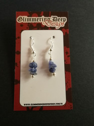 Blue stone beads earrings
