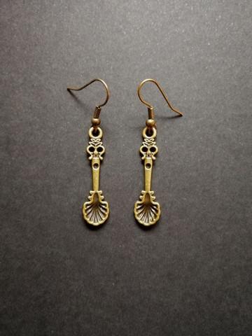 Spoon earrings