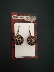 Bronze coloured ball earrings