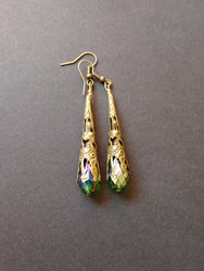 Green medieval earrings
