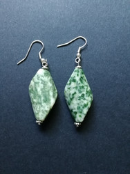Green stonebeads earrings