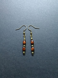 Wood beads earrings
