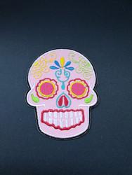 Light pink skull patch