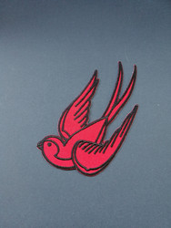 Red bird patch