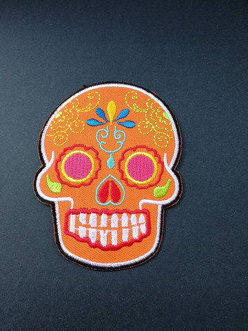 Orange skull patch