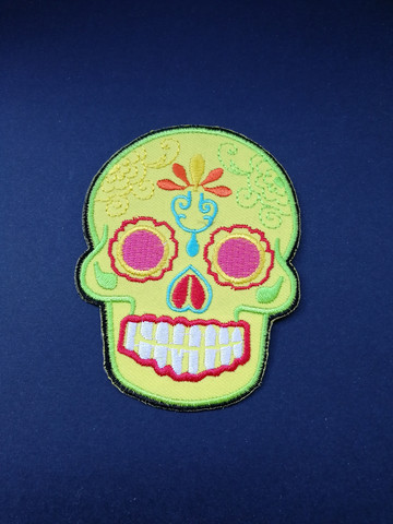 Yellow skull patch