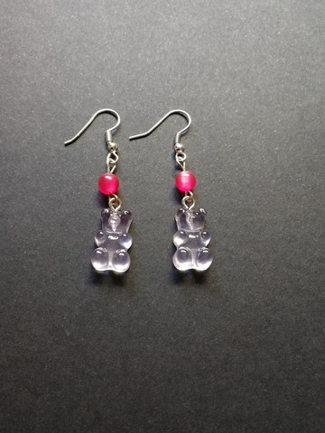 Light pink gummy bears earrings