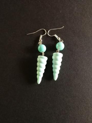 Pastel mint unicorn horn earrings