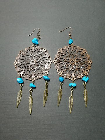 Lace dreamcatcher earrings