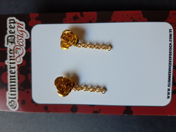 Stud earring golden rose