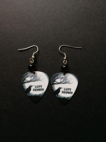 Halloween pick earrings