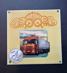 Father's day card truck