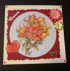 Kortti kukkakimppu