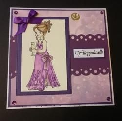 Violetti ylioppilaalle kortti tyttö