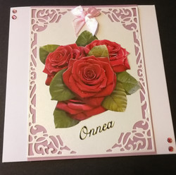 Kortti punainen ruusu