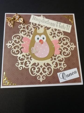 Nimipäiväkortti pöllö