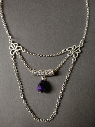 Gothic necklace with drop