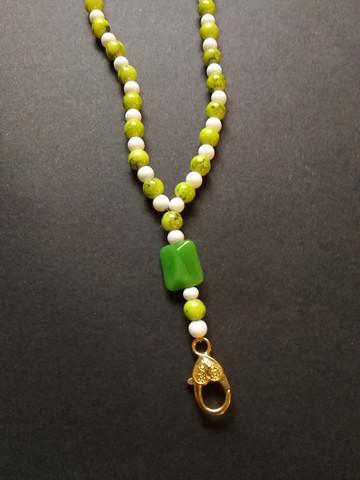 Vihreä helmi avainnauha