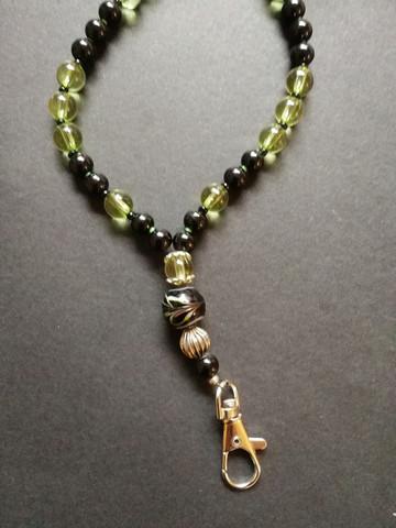 Black and green key chain