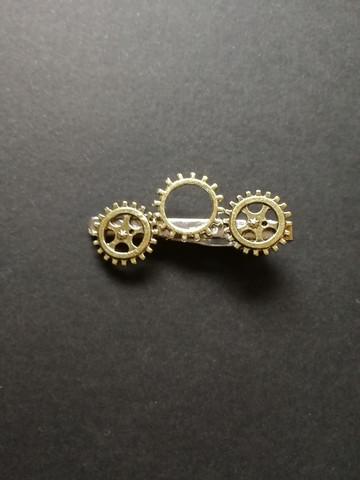 Solmioneula steampunk kullanväriset rattaat