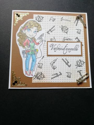 Graduate card builder girl