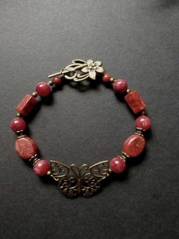 Red butterfly anklet